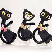 Кот кошка черная