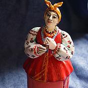 """Колокольчики ручной работы. Ярмарка Мастеров - ручная работа Солоха (колокольчик из серии """"Ночь перед Рождеством""""). Handmade."""