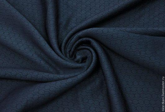 Шитье ручной работы. Ярмарка Мастеров - ручная работа. Купить Ткань100501 итальянский шелк. Handmade. Тёмно-синий, натуральный шелк