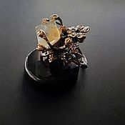Украшения handmade. Livemaster - original item Ring with pale yellow fluorite. Handmade.