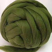 Материалы для творчества handmade. Livemaster - original item Australian Merino forest Green.Germany.19 MD. wool for felting. Handmade.