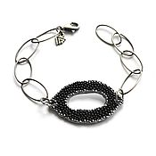 Украшения handmade. Livemaster - original item Bracelet made of Stingray leather and silver Writing on the sand (SKAT, silver 925). Handmade.