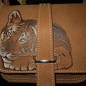 Сумки и аксессуары ручной работы. Ярмарка Мастеров - ручная работа сумка кожаная тигренок. Handmade.