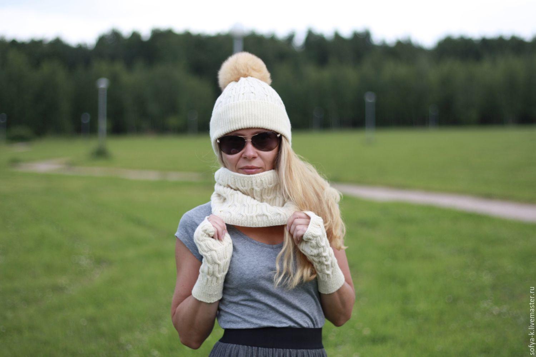 Snood made from Merino wool 'Vanilla', Snudy1, Moscow,  Фото №1