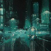 Картины и панно handmade. Livemaster - original item Night of Glass. Handmade.
