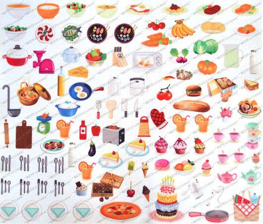 """Валяние ручной работы. Ярмарка Мастеров - ручная работа. Купить Фетр с принтом """"Кукольная еда"""". Handmade. Комбинированный, фетр корейский"""