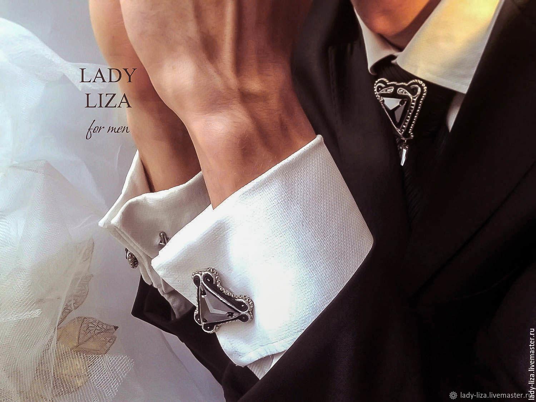 Edward cufflinks, gift for man, for men, men's jewelry, Cuff Links, Zelenokumsk,  Фото №1