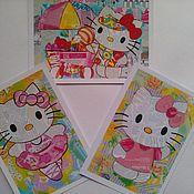 набор почтовых открыток hello kitty