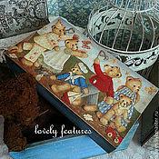 """Для дома и интерьера ручной работы. Ярмарка Мастеров - ручная работа Короб """"Медвежья семейка"""". Handmade."""