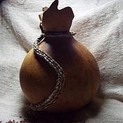 """Посуда ручной работы. Ярмарка Мастеров - ручная работа """"Бабочка"""" кувшин из тыквы-горлянки для круп. Handmade."""