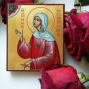 Картины и панно handmade. Livemaster - original item Xenia Of Petersburg.Miniature hand painted icon. Handmade.