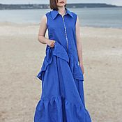 Одежда handmade. Livemaster - original item Long dress linen Dress Summer dress. Handmade.