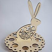 Для дома и интерьера ручной работы. Ярмарка Мастеров - ручная работа Подставка для яиц Зайчик. Handmade.