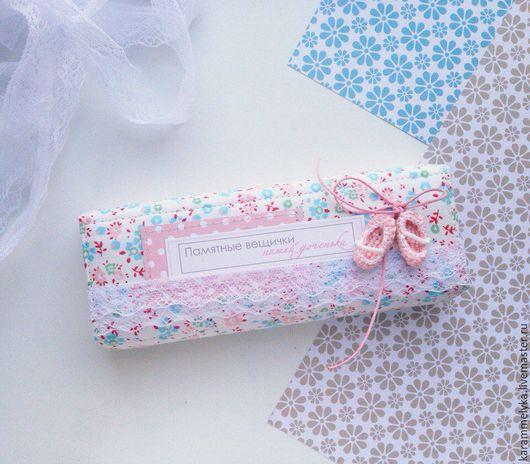 """Подарки для новорожденных, ручной работы. Ярмарка Мастеров - ручная работа. Купить Шкатулка """"Мамины сокровища"""". Handmade. Розовый, мамина сокровищница"""
