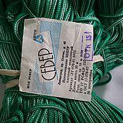 Материалы для творчества ручной работы. Ярмарка Мастеров - ручная работа шнур плетеный зеленый. Handmade.