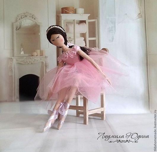 Коллекционные куклы ручной работы. Ярмарка Мастеров - ручная работа. Купить Интерьерная кукла Балерина. Handmade. Розовый, нежная кукла