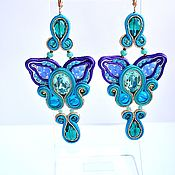 Украшения handmade. Livemaster - original item Soutache earrings Orchid Silvia. Handmade.
