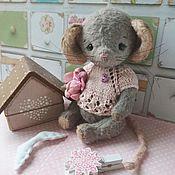 Тедди Зверята ручной работы. Ярмарка Мастеров - ручная работа Тедди Зверята: Мышка Молли. Handmade.