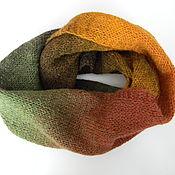 Аксессуары handmade. Livemaster - original item Snood Autumn from yarn of natural composition. Handmade.