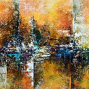 Картины и панно handmade. Livemaster - original item Abstraction oil painting interior