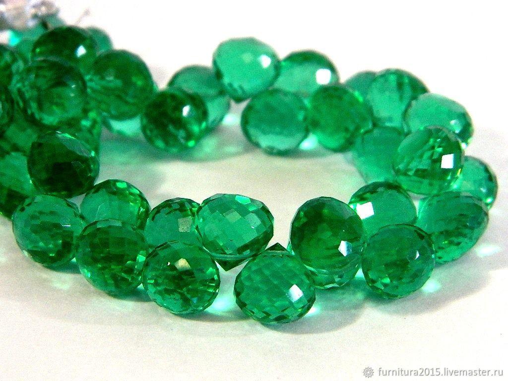 Spinel green micro-cut, onion 10 mm. piece, Beads1, Saratov,  Фото №1