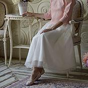 Одежда ручной работы. Ярмарка Мастеров - ручная работа Юбка фатин молочная, айвори. Handmade.