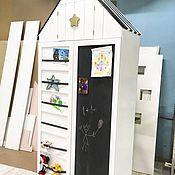Для дома и интерьера ручной работы. Ярмарка Мастеров - ручная работа Шкаф в детскую комнату с магнитно-мелковой доской. Handmade.