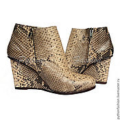 Обувь ручной работы handmade. Livemaster - original item Ankle boots made from Python EIVA. Handmade.