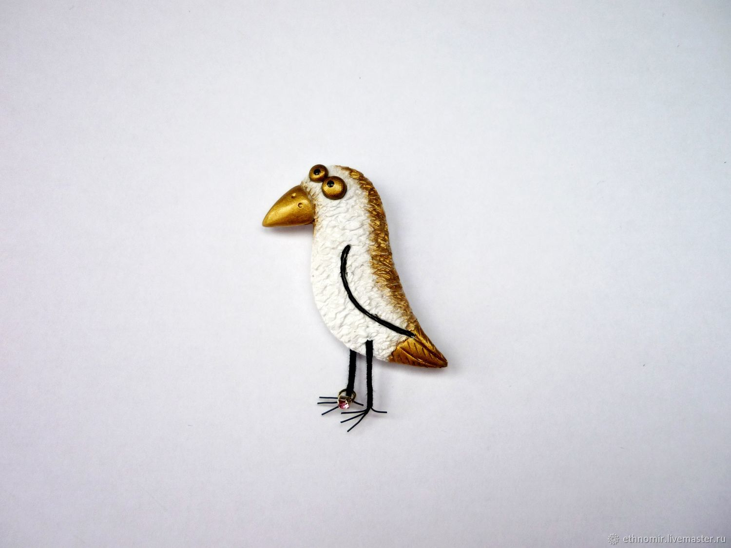 Brooch ' Just a white crow', Brooches, Irbit,  Фото №1
