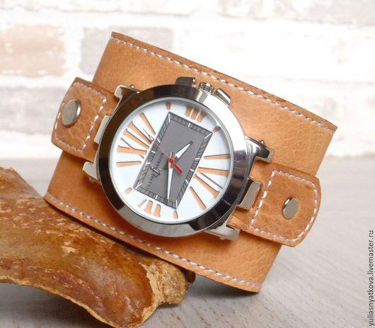 Часы ручной работы. Ярмарка Мастеров - ручная работа. Купить Часы наручные на браслете буйвол.. Handmade. Часы, браслет для часов