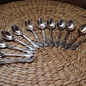Винтаж handmade. Livemaster - original item Nickel silver tea spoons. Ukraine. Handmade.