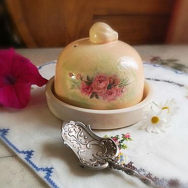 Посуда ручной работы. Ярмарка Мастеров - ручная работа Масленка в винтажном стиле. Handmade.