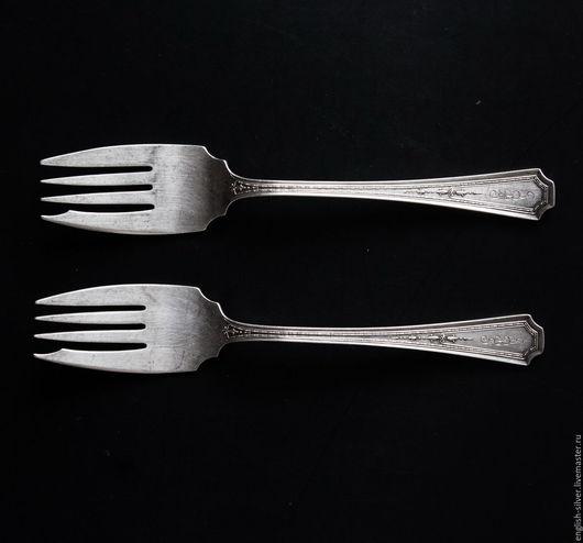 Винтажная посуда. Ярмарка Мастеров - ручная работа. Купить 2 серебряные вилки. Handmade. Серебряный, вилки