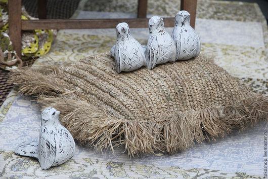 """Текстиль, ковры ручной работы. Ярмарка Мастеров - ручная работа. Купить Подушка напольная плетеная с бахромой """"Kecil Sarang"""".. Handmade."""