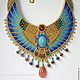 Necklace in Egyptian style. Necklace with scarab. Egyptian beaded necklace. Designer jewelry Ulyana Moldovyan. NECKLACE CUSTOM.