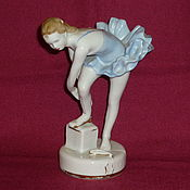 Винтаж handmade. Livemaster - original item YOUNG BALLERINA IN BLUE CLOTHING SHOES. Dulyovo. Handmade.