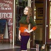 Одежда ручной работы. Ярмарка Мастеров - ручная работа Яркое облегающее платье. Handmade.