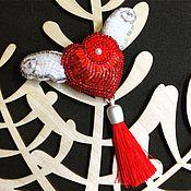 Украшения ручной работы. Ярмарка Мастеров - ручная работа Брошь На крыльях любви. Handmade.