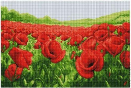"""Картины цветов ручной работы. Ярмарка Мастеров - ручная работа. Купить Картина из бисера """"Маки"""" вышивка. Handmade. Вышивка, подарок"""