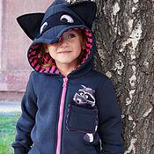 Работы для детей, manualidades. Livemaster - hecho a mano Children`s sweatshirt Enotik, hoodie zip. Handmade.