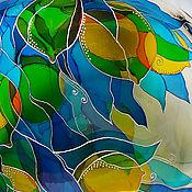 Посуда handmade. Livemaster - original item Bottle Lemons, stained glass painting. Handmade.