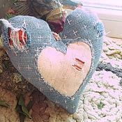 """Подарки к праздникам ручной работы. Ярмарка Мастеров - ручная работа """"Разорванное сердце"""" из джинсы...боро-валентинка...стиль боро..... Handmade."""