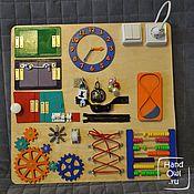 Бизиборды ручной работы. Ярмарка Мастеров - ручная работа Бизиборд Часовой. Handmade.