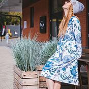 Платья ручной работы. Ярмарка Мастеров - ручная работа Платье для кормящих и беременных, Гжель. Handmade.