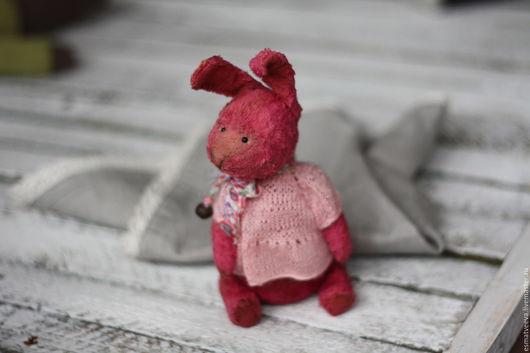Мишки Тедди ручной работы. Ярмарка Мастеров - ручная работа. Купить Зая Малинка. Handmade. Брусничный, малиновый, шплинты