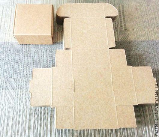 Упаковка ручной работы. Ярмарка Мастеров - ручная работа. Купить Коробочка для упаковки крафт темная, бежевая, белая. Handmade.