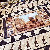 handmade. Livemaster - original item ON THE WAY TO AFRICA a birthday present a patchwork quilt. Handmade.