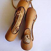 Украшения ручной работы. Ярмарка Мастеров - ручная работа Кулоны, кожа.. Handmade.