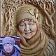 Люди, ручной работы. Ярмарка Мастеров - ручная работа. Купить портрет. Handmade. Панно из дерева, портрет, разноцветный, кедр