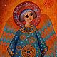 Символизм ручной работы. Ангел Рождества. Masha  Kukshanya. Интернет-магазин Ярмарка Мастеров. Ангел, тепло, синий, теплый подарок